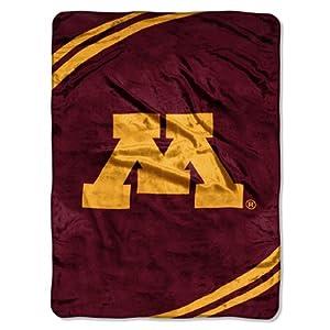 NCAA Minnesota Gophers Force Royal Plush Raschel Throw Blanket, 60x80-Inch by Northwest