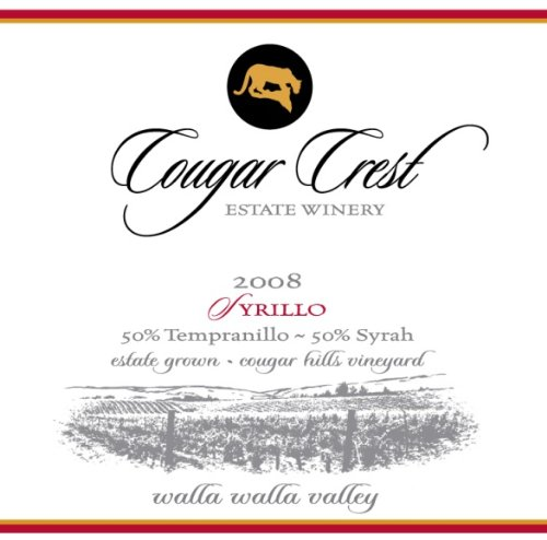 2008 Cougar Crest Syrillo Walla Walla Valley Cougar Hills Vineyard Estate 750 Ml