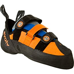 evolv Men\'s Shaman Climbing Shoe,Orange/Blue,10.5 M US
