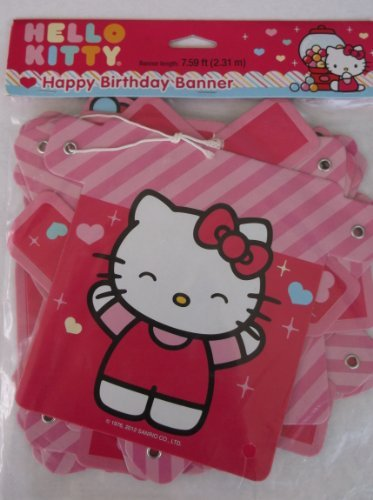 Hello Kitty 'Sweet Gumdrop' Happy Birthday Banner (1ct)