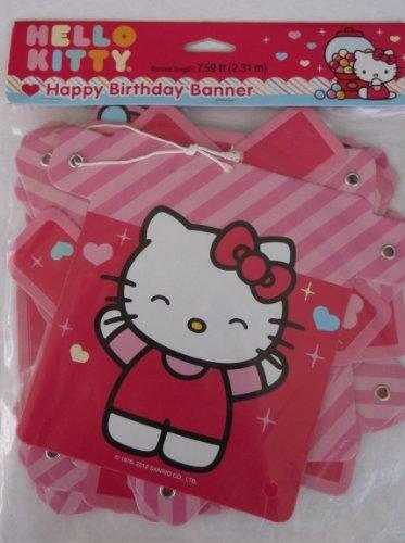 Hello Kitty 'Sweet Gumdrop' Happy Birthday Banner (1ct)