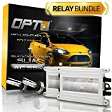 OPT7® Bolt AC 55w HID Xenon Conversion Kit w/ Relay Harness & Capacitors - 2 Year Warranty - H11 (5000K, Bright White)