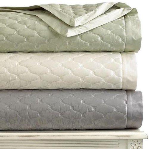 Martha Stewart Trousseau Cirque Standard Pillow Sham Quilted Vendome Gray Grey front-936272