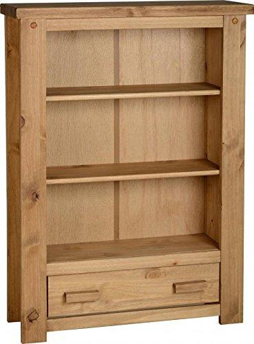 tortilla 1cassetto libreria in legno di pino invecchiato e cerato
