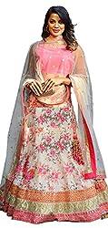 The Zeel Fashion malyti Color bhaglpoori Anarkali Unstitched lehegas set