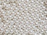 まんまるパール(穴なしビーズ) ホワイト 1.5mm~12mm (3mm(200粒))