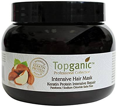 Topganic Intensive Hair Mask with Brazil Nut Oil, 16.9 Ounce