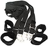 ieasysexy Secret Under the Bed Restraint Comfortable Fur Lined Wrist Cuffs Ankle Cuffs With Nylon Straps Fetish Bondage Bdsm SM Tool Kit Set