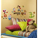 Roommates Jake And The Neverland Pirates Peel And Stick Wall Decals, Multi Color