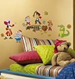 RoomMates Children's Repositonable Disney Wall Stickers Jake and the Never Land Pirates, Multi-Color