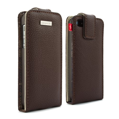 Special Sale Proporta 12298 Protective Leather Case with Aluminum Lining for iPhone 5 - 1 Pack - Retail Packaging - Brown