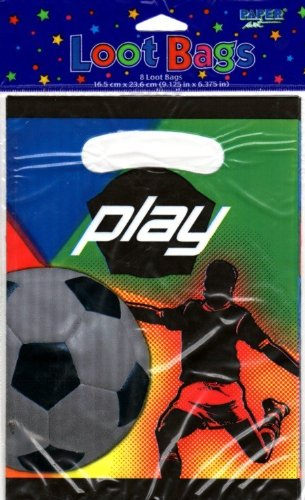 Creative Expressions50457-24 Paper Art Play Soccer 8 Count Loot Bags - 24 Packs - 1