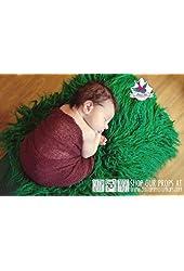 Rainforest Green Grass Newborn Faux Fur Fabric, Newborn Photo Props, John Deere Photo Prop, Photography Props, Baby Props, Pet Props 20 x 32
