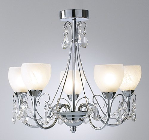 Ceiling light in Polished Chrome with 5 arms CTDA