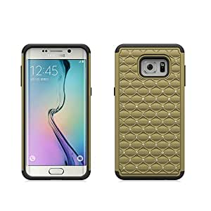 Samsung Galaxy S6 Edge Plus Case , Galaxy S6 Edge Plus Case , [ Storm Buy ] Hard & Soft Sturdy Hybrid Gel Rhinestone Bling Diamond Armor Defender [ Anti Scratch ] Case Cover (Bling Golden)