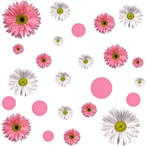 RoomMates RMK1013SCS Flower Power Peel and Stick Wall Decals