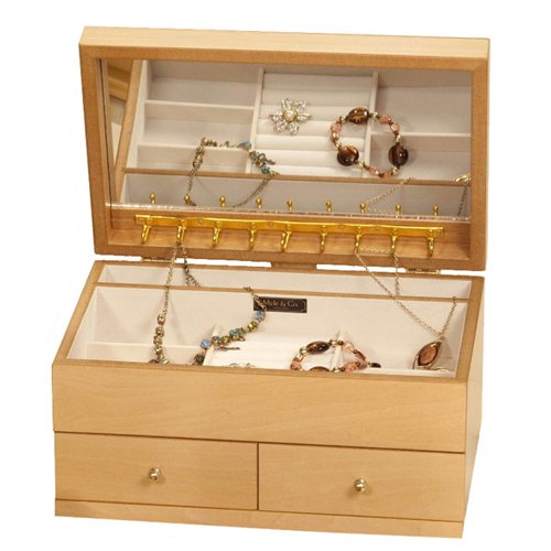 Mele Mele Floral Wooden Large Jewellery Box