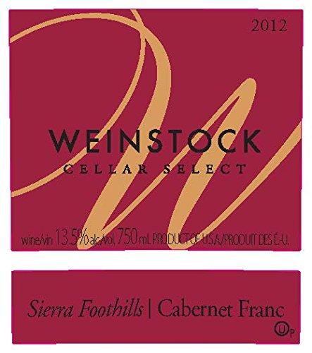 2012 Weinstock Cellar Select Sierra Foothills Cabernet Franc 750 Ml