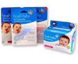 Brush Baby Set ~ Chewable Toothbrush & Dental Wipes (Blue Teether)