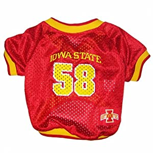 NCAA Dog Clothing - Iowa State Cyclone Jersey Large by Pets First