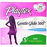 Playtex Gentle Glide Tampons, Unscented Super Absorbency, 36 Count