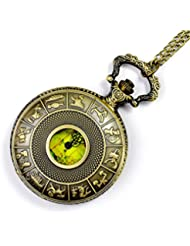 12 Constellation Cover Map Antique Pocket Watch ,Nostalgia Antique Antique Gift Pocket Watch