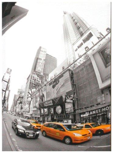 """Kunstdruck """"New York & yellow Cab"""" - 50x70x4 cm - Extraklassiges Leinwandbild, Keilrahmenbild. Unerreichbare Qualität!"""