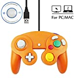 Mekela 5.8 feet Classic USB Wired NGC Controller Gamepad resembles Gamecube for Windows PC MAC (USB Orange) (Color: 1 pack USB Orange)