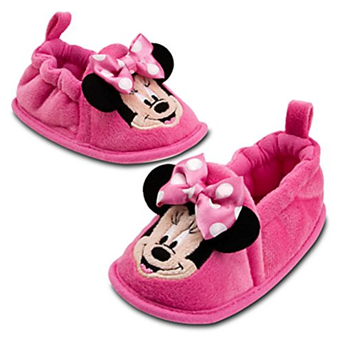 Disney Store Minnie Mouse Pink Slippers Shoes Booties Girls Size 12 - 18 Months