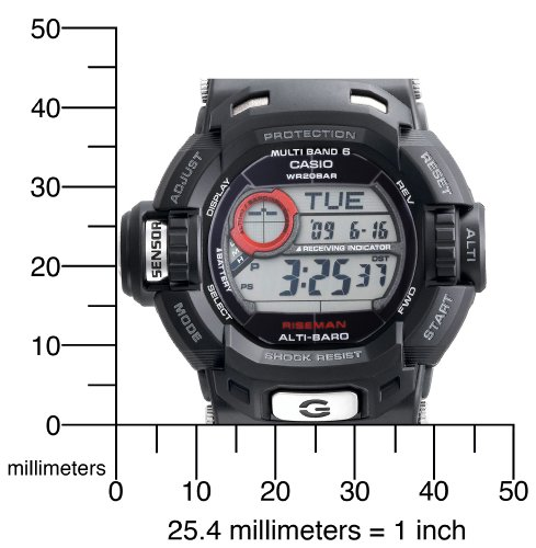 Casio Men's GW9200-1 G-Shock Riseman Alti-Therm Solar Atomic Watch