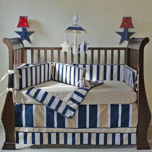 Hoohobbers 4-Piece Crib Bedding, Rugby