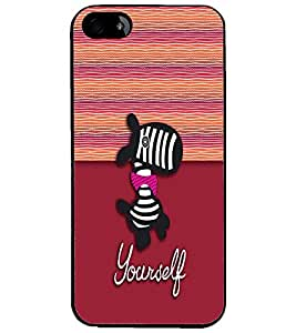 PrintDhaba Cartoon D-3331 Back Case Cover for APPLE IPHONE 5 (Multi-Coloured)