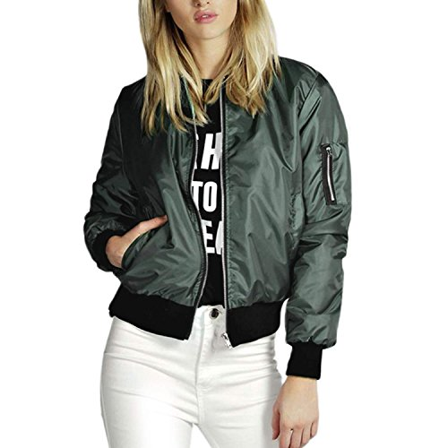 Zeagoo Womens Classic Quilted Jacket Short Bomber Jacket