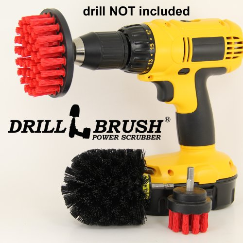 Nylon Stiff Scrub Brush Attachment For Electric Battery Rechargeable Handheld Drills