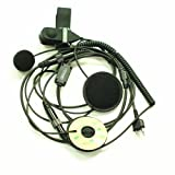 Coodio® Full Face Moto Motorcycle Bike Helmet Earpiece Headset Mic Microphone for 2-pin Midland Alan Radio