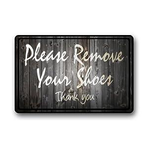 Funny quotes please remove your shoes clearance doormat door mat patio lawn - Remove shoes doormat ...