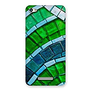 Greenish Pattern Back Case Cover for Micromax Hue 2