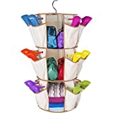 As Seen On Tv Multipurpose 360 Degree Rotating Smart Carousel 3-Tier Organizer With 24 Pockets And 3 Shelves