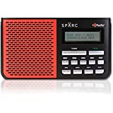 SPARC HD Radio SHD-TR05R Portable Table Top Radio with Built-in FM & HD Radio Tuners