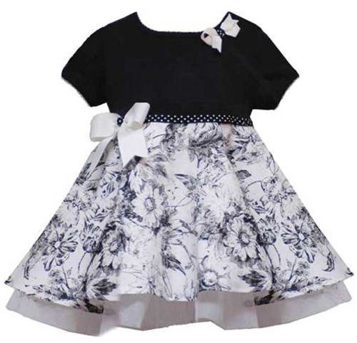 New Ivory Black French Toile Dress ~ 6M to 24M ~ Holiday Christmas