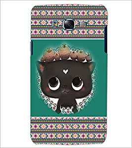 PrintDhaba Kitty D-3685 Back Case Cover for SAMSUNG GALAXY ON 7 (Multi-Coloured)