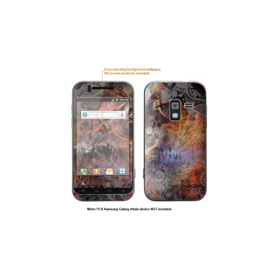 Protective Decal Skin Sticker for Metro PCS Samsung Galaxy Attain 4G case cover Attain 561