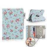 Casezilla Amazon Kindle Fire HDX 7 Inch Tablet 360 Degrees Universal PU Leather Tablet Case - Roses