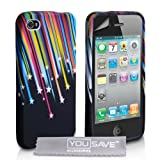 Yousave Accessories AP-GA01-Z542 Coque en gel silicone avec Protecteur �cran pour iPhone 4 / 4Spar Yousave Accessories