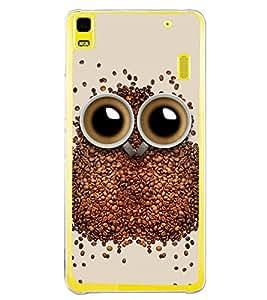 Coffee Owl 2D Hard Polycarbonate Designer Back Case Cover for Lenovo A7000 :: Lenovo A7000 Plus :: Lenovo K3 Note