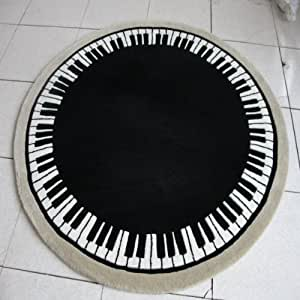 DIAIDI Cute Area Rugs Round Rugs Fashion Rugs Music Piano ...