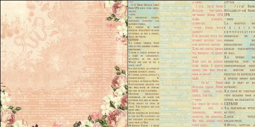Western Romance Double-Sided Paper 12