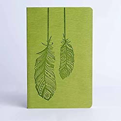 Doodle Quill Diary Notebook - A5, 80GSM, 200 Pages (Green)