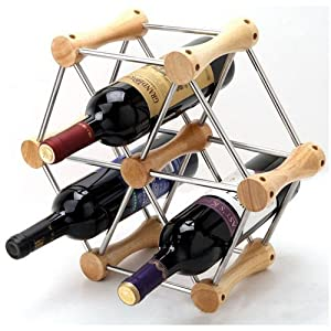 Wine System Rack Expandable Wine Holder for 6 Bottles Kitchen Home DIY Wine Storage System