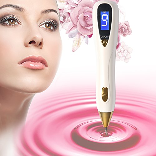 [2018 Upgraded] Mole Removal Pen-Skin Tag Remover Kit with 9 Adjustable Modes&LED Light, LCD Display Spot Eraser Pro for Tattoo Nevus Freckles Birth Mark with USB Charging&Replaceable Needles [+Peso($32.00 c/100gr)] (US.AZ.31.95-0-B07B7KT77S.86)